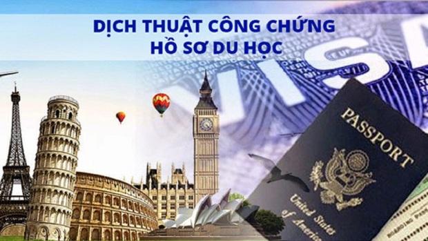 Dịch thuật công chứng hồ sơ du học, visa