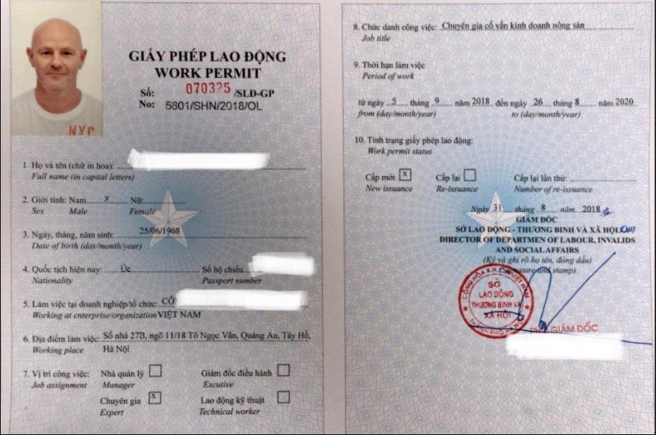 Dịch vụ làm giấy phép lao động cho người nước ngoài tại Hà Nội